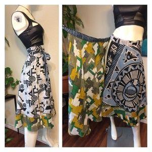 ONFA Tribal Print Wrap Around Vacation Skirt